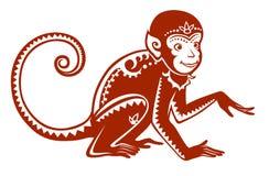 Ethnic ornamented monkey Stock Image