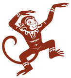 Ethnic ornamented monkey Stock Photos