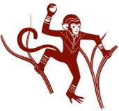 Ethnic ornamented monkey Royalty Free Stock Photography