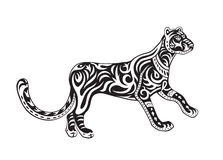 Ethnic ornamented panther Royalty Free Stock Image