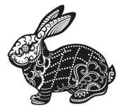 Ethnic ornamented rabbit Stock Photography