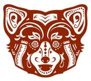 Ethnic ornamented red panda Stock Image