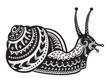 Ethnic ornamented snail Royalty Free Stock Photos