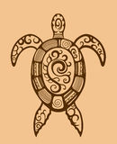 Ethnic ornamented turtle Stock Photos