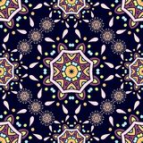 Ethnic ornaments. Flower circular background. Beautiful retro seamless pattern. Royalty Free Stock Images