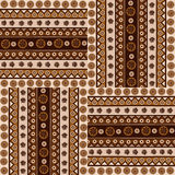Ethnic ornaments seamless pattern in african style Stock Images