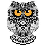 Ethnic owl / african / indian / totem for shirt design,logo and icon Royalty Free Stock Images