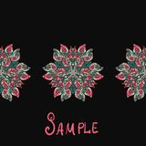 Ethnic paisley ornament. Abstract background with. Ethnic paisley ornament Abstract background with mandala element Royalty Free Stock Images