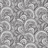 Ethnic paisley seamless pattern in vector. Endless abstract design background. Royalty Free Stock Images