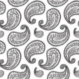 Ethnic paisley seamless pattern in vector. Endless abstract design background. Stock Photography