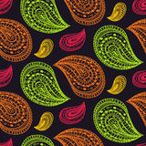 Ethnic paisley seamless pattern in vector. Endless abstract design background. Stock Photo