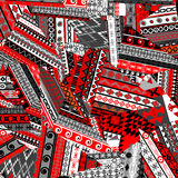Ethnic patchwork background Stock Images