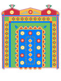 Ethnic pattern. Indian ethnic pattern on a uncolored background Stock Images