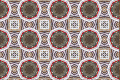 Ethnic pattern. Abstract kaleidoscope fabric design. Stock Photography