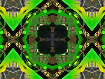 Ethnic pattern. Abstract kaleidoscope  fabric Stock Photos