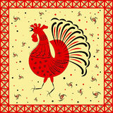 Ethnic pattern. Abstract ethnic pattern, tribal background. Mezen painting. Suitable for Chinese New Year 2017. Vector illustration. eps10 Stock Image