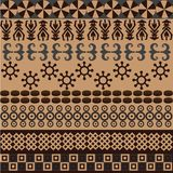 Ethnic pattern with african symbols&ornaments Stock Image
