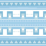 Ethnic pattern background in  blue Royalty Free Stock Images