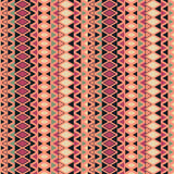 Ethnic pattern background with geometrical elements. Simple repeating geometric texture. Seamless colorful background. With triangles in rows. Vector pattern Royalty Free Stock Photo