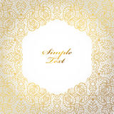 Ethnic pattern background.Tribal lace,label.Gold,white Royalty Free Stock Image