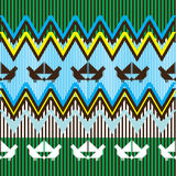 Ethnic pattern with bird Royalty Free Stock Image