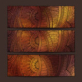 Ethnic pattern card set. Royalty Free Stock Photo