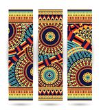 Ethnic pattern cards Royalty Free Stock Image