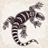 Ethnic pattern decorative lizard Stock Photo