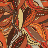 Ethnic pattern in earth colours with the motifs of a dance shield of the Kikuyu people of central Kenya royalty free stock photo