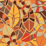 Ethnic pattern in earth colours with the motifs of a dance shield of the Kikuyu people of central Kenya Royalty Free Stock Photography