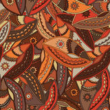 Ethnic pattern in earth tones with motifs of a dance shield of the Kikuyu people of central Kenya Royalty Free Stock Image