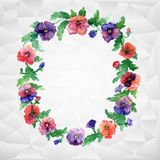 Ethnic pattern of flowers Royalty Free Stock Photos