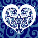 Ethnic pattern in the form of heart. Vector Image. All elements on layers Royalty Free Stock Photography
