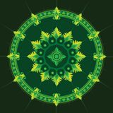 Ethnic  pattern in green color Royalty Free Stock Images