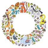 Ethnic pattern kids fabric, textile, nursery wallpaper. Vector illustration. African animals, tribal elements for little. Children, kids vector illustration