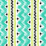 Ethnic pattern painted with zigzag brushstrokes Stock Photography
