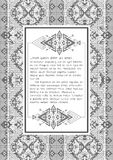 Ethnic pattern with quote blank template on it Stock Image