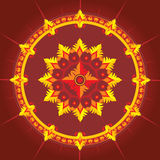 Ethnic pattern in red color. Ethnic  pattern in red color - vector illustration stock illustration