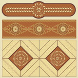 Ethnic pattern of the Romanian peoples Stock Photo
