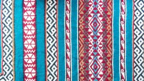 Ethnic pattern stripes with patterns colorful background royalty free stock image
