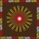 Ethnic pattern sunny Royalty Free Stock Photography