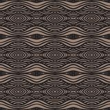 Ethnic pattern, with thick lines and smooth waves Royalty Free Stock Images
