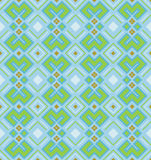 Ethnic pattern in turquoise color. Geometric seamless texture. Vector illustration Stock Photos