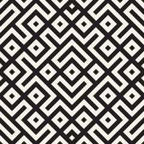 Ethnic pattern vector design. Seamless lattice background. Square repeating lines elements. royalty free illustration