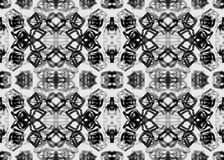 Ethnic pattern. Watercolor geometric seamless pattern. Royalty Free Stock Images
