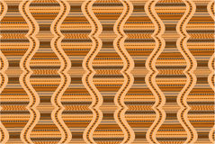 Ethnic pattern with waves like vases Royalty Free Stock Images