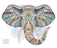 Ethnic patterned head of elephant Royalty Free Stock Photography