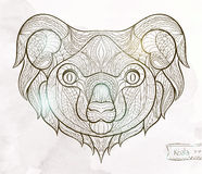 Ethnic patterned head of koala Royalty Free Stock Images