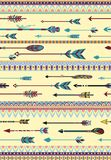Ethnic Patterns with Arrows Royalty Free Stock Photo