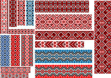 Ethnic Patterns for Embroidery Stitch Royalty Free Stock Photography